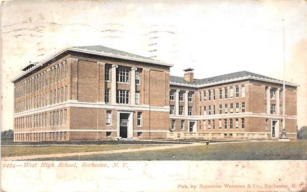West High School Rochester, New York Postcard