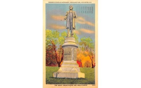 Frederick Douglas Monument Rochester, New York Postcard