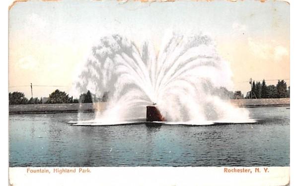 Fountain Rochester, New York Postcard
