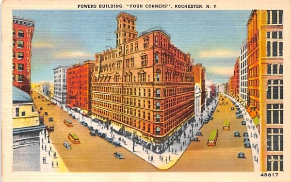 Powers Building Rochester, New York Postcard