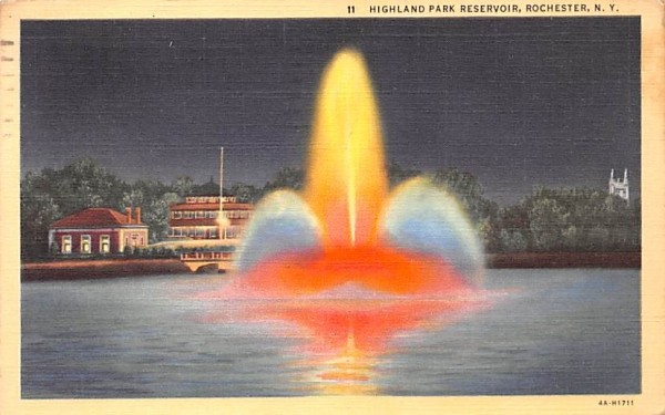 Highland Park Reservoir Rochester, New York Postcard