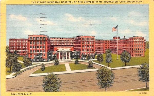 Strong Memorial Hospital Rochester, New York Postcard