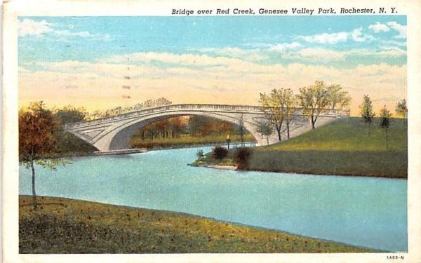 Bridge over Red Creek Rochester, New York Postcard