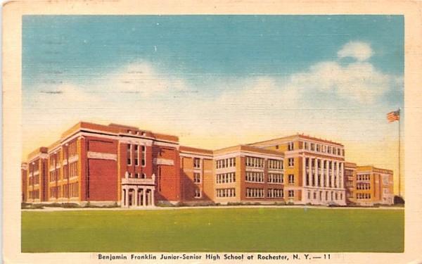 Benjamin Franklin Junior Senior High School Rochester, New York Postcard