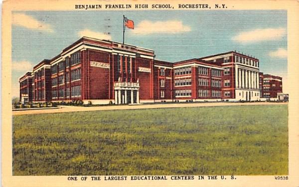 Benjamin Franklin High School Rochester, New York Postcard