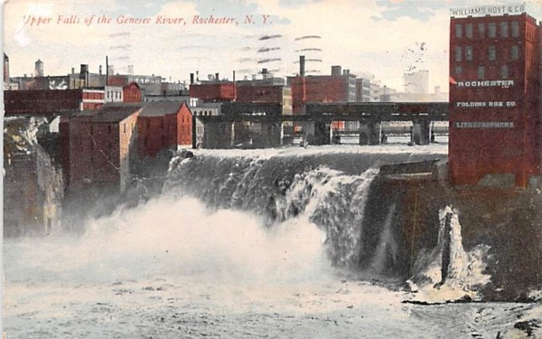 Upper Falls of the Genesee River Rochester, New York Postcard