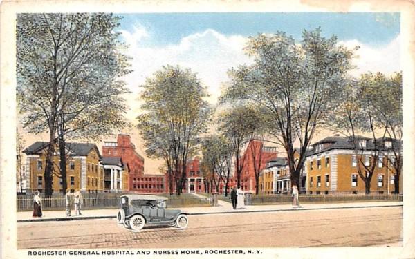 Rochester General Hospital & Nurses Home New York Postcard