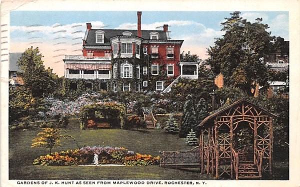 Gardens of JK Hunt Rochester, New York Postcard