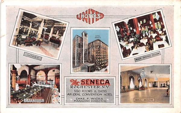 Seneca Hotel Rochester, New York Postcard