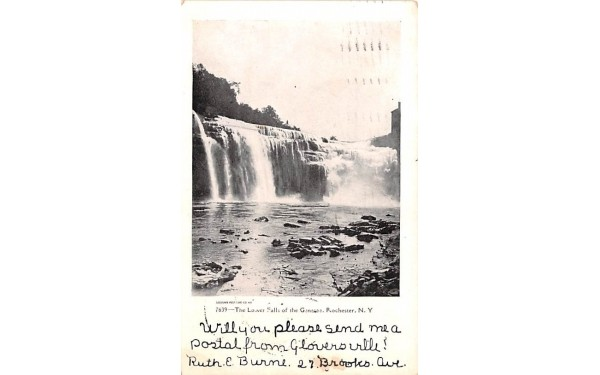 Lower Falls of the Genesee Rochester, New York Postcard