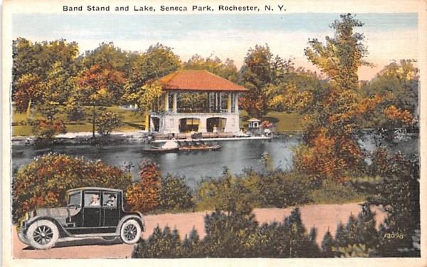Band Stand & Lake Rochester, New York Postcard