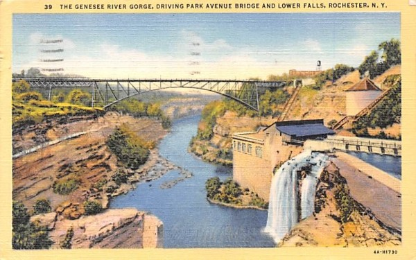 Genesee River Gorge Rochester, New York Postcard