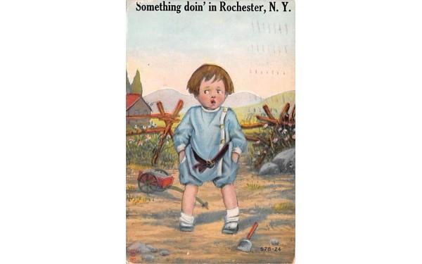 Something doin' Rochester, New York Postcard