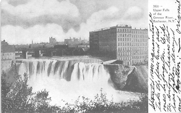 Upper Falls Rochester, New York Postcard