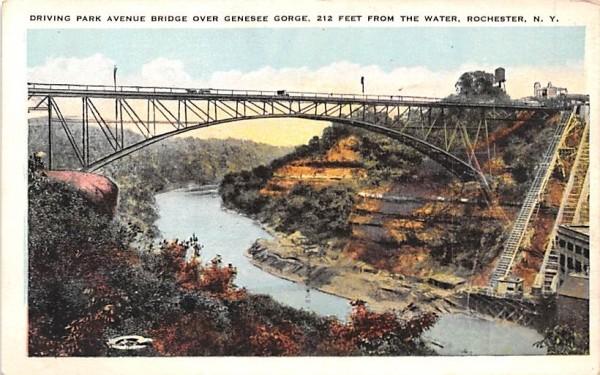 Driving Park Avenue Bridge Rochester, New York Postcard