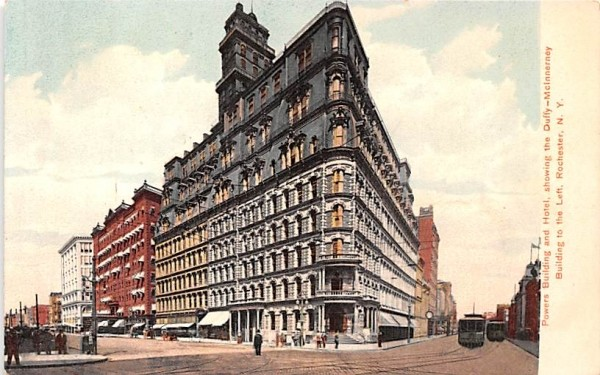 Powers Building & Hotel Rochester, New York Postcard
