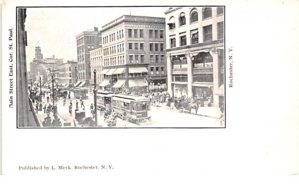 Main Street East Rochester, New York Postcard