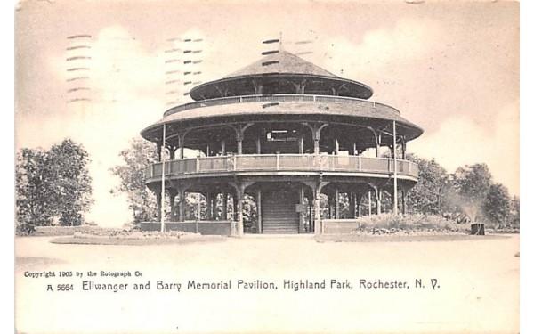 Ellwanger & Barry Memorial Pavilion Rochester, New York Postcard
