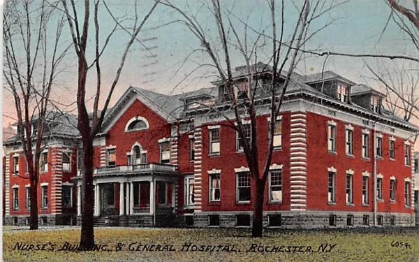 Nurses' Building & General Hospital Rochester, New York Postcard