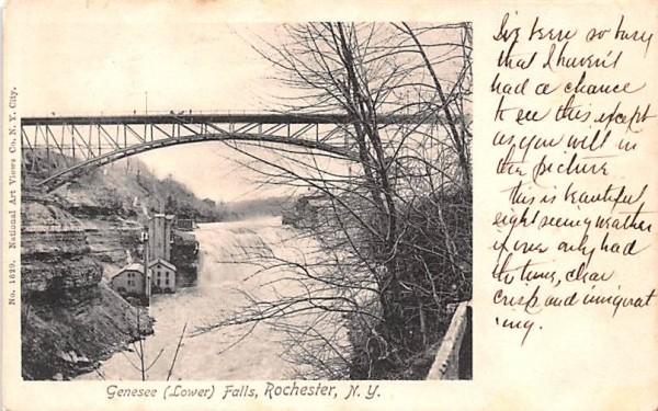 Genesee Lower Falls Rochester, New York Postcard