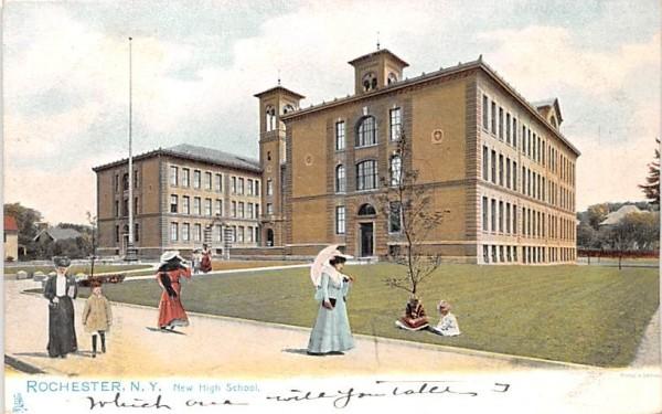 New High School Rochester, New York Postcard