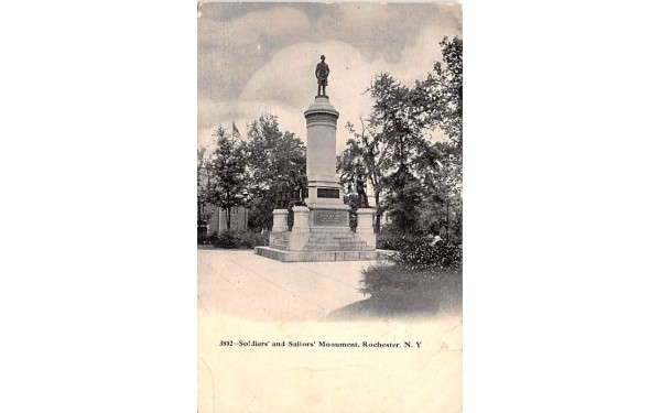 Soldiers' & Sailor's Monument Rochester, New York Postcard