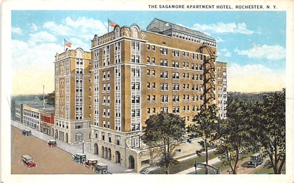 Sagamore Apartment Hotel Rochester, New York Postcard