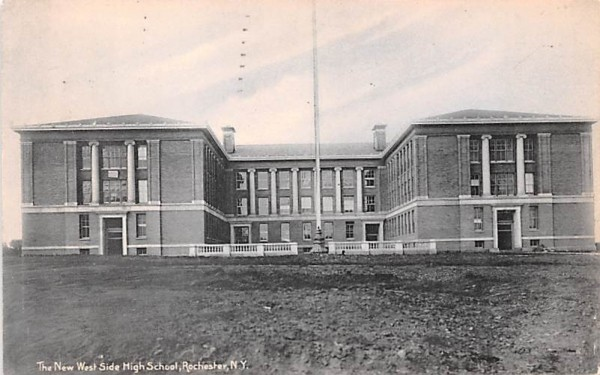 New West Side High School Rochester, New York Postcard