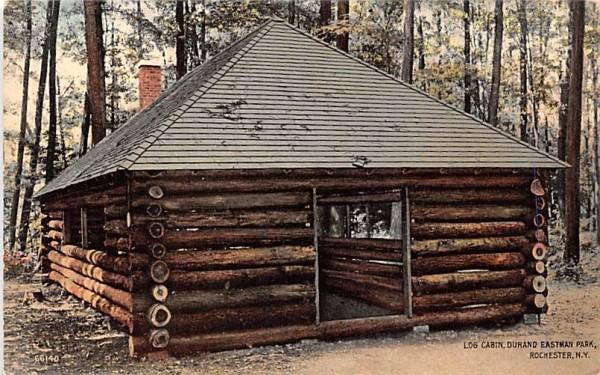 Log Cabin Rochester, New York Postcard