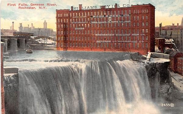 First Falls Rochester, New York Postcard