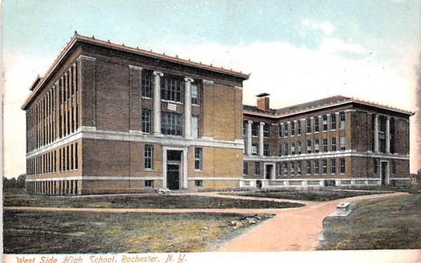 West Side High School Rochester, New York Postcard