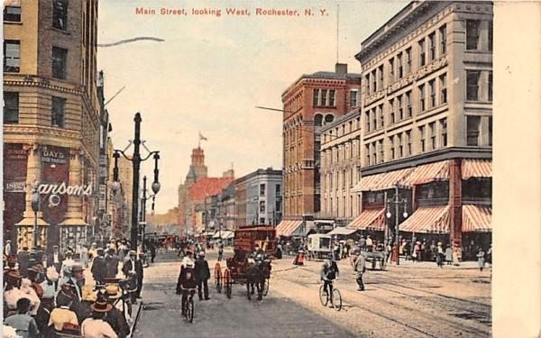 Main Street Rochester, New York Postcard
