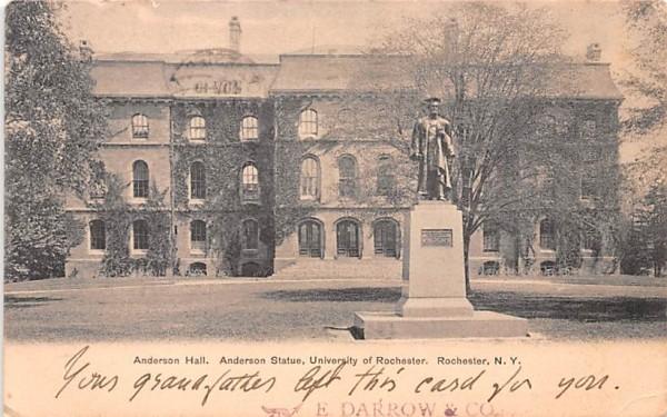 Anderson Hall Rochester, New York Postcard