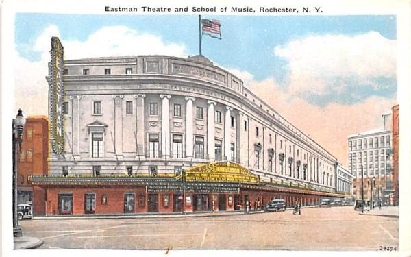 Eastman Theatre & School of Music Rochester, New York Postcard