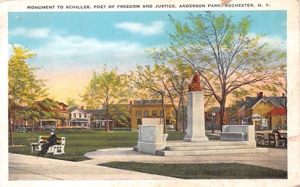 Monument of Schiller Rochester, New York Postcard