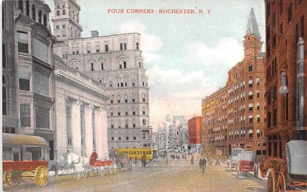 Four Corner Rochester, New York Postcard