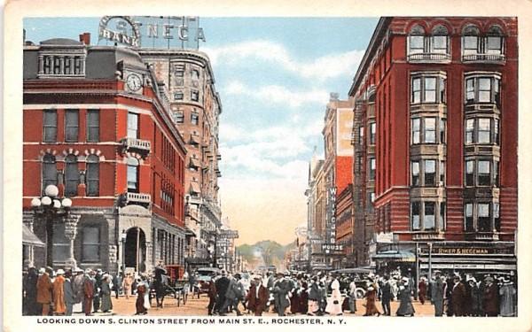 S Clinton Street Rochester, New York Postcard