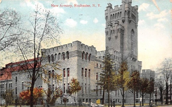 New Armory Rochester, New York Postcard