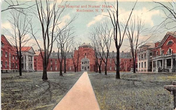 City Hospital & Nurses' Home Rochester, New York Postcard