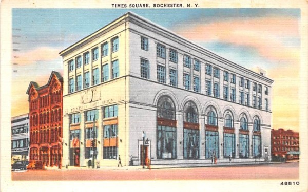 Times Square Rochester, New York Postcard