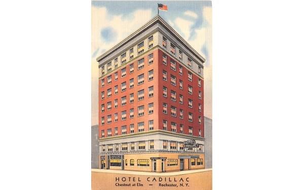 Hotel Cadillac Rochester, New York Postcard