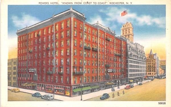 Powers Hotel Rochester, New York Postcard