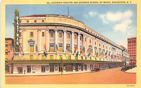 Eastman Theatre Rochester, New York Postcard
