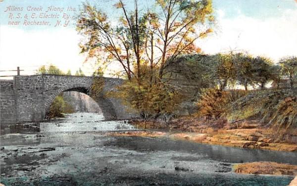 Allen's Creek Rochester, New York Postcard