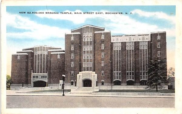 Masonic Temple Rochester, New York Postcard