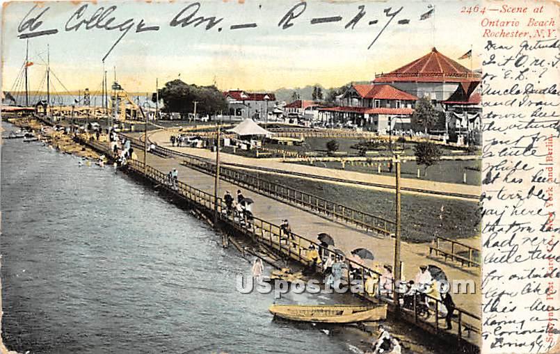 Ontario Beach - Rochester, New York NY Postcard