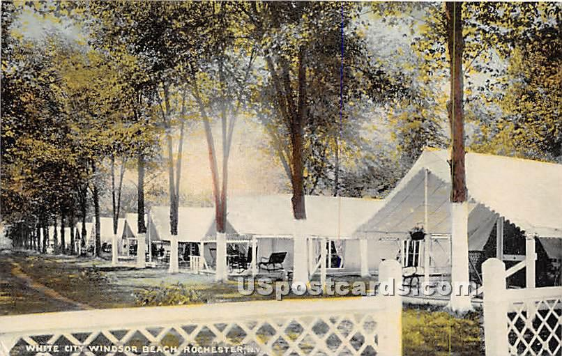 White City Windsor Be4ach - Rochester, New York NY Postcard