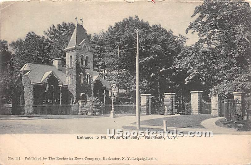 Mt Hope Cemetery - Rochester, New York NY Postcard