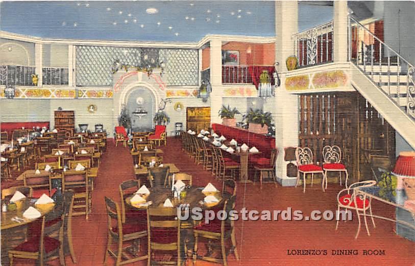Lorenzo's Dining Room - Rochester, New York NY Postcard