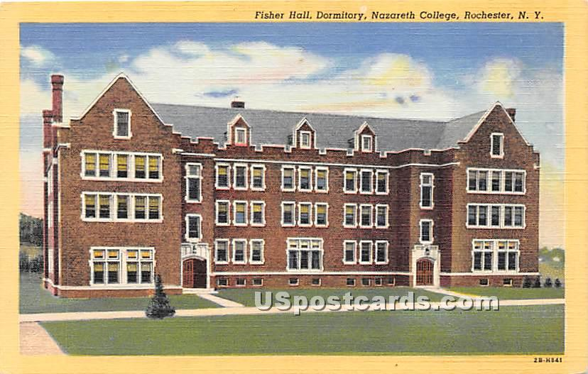 Dormitory, Nazareth College - Rochester, New York NY Postcard